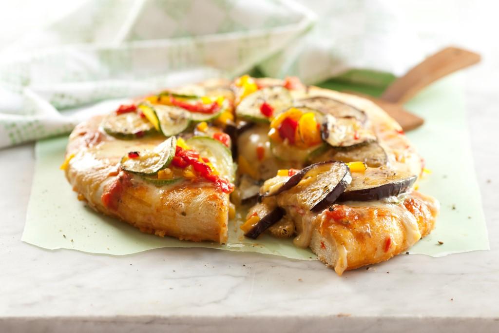 pizza veg grillados