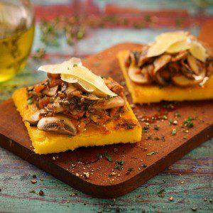 polenta con tomate y champignones baja