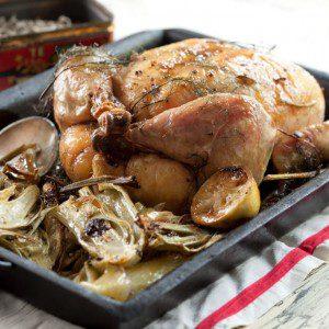 pollo con hinojo