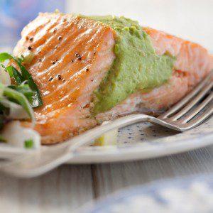 salmón con palta