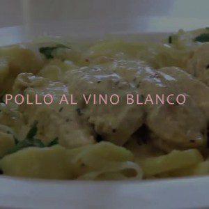 Pollo al vino blanco