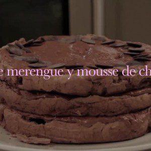 Torta de merengue y mousse de choco