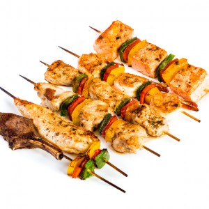 Tasty grilled meat, shish kebab