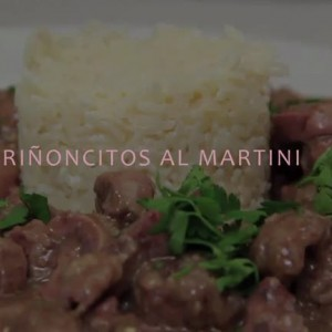 RIÑONCITOS DE TERNERA AL MARTINI
